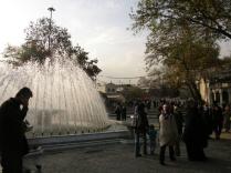 Fountain outside the maqam