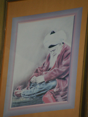 A painting of Mawlana