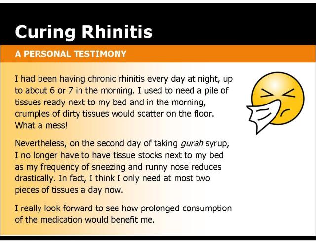 reduced rhinitis